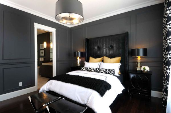 Black Bedroom Interior Designs – Dramatic Yet Elegant