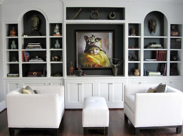 black interiors display