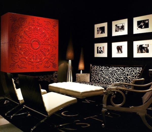 black interiors dramatic color