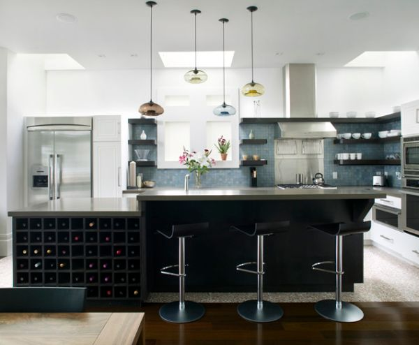 L Shaped Kitchen Island Breakfast Bar