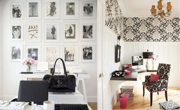 Black And White Office Decorating Ideas