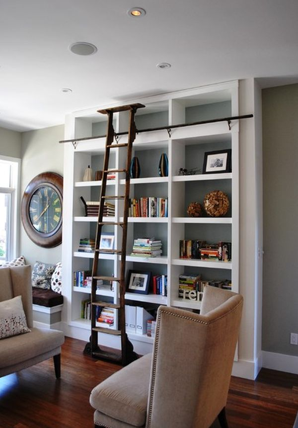 Ladders, an unexpected interior décor element with lots of versatility