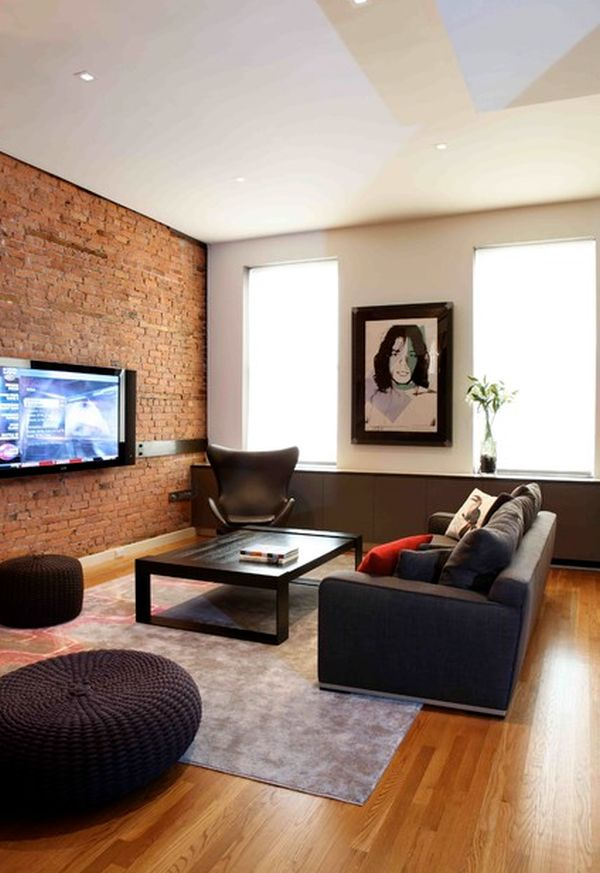 Nice View In Gallery. In This Living Room The Exposed Brick ... Part 29