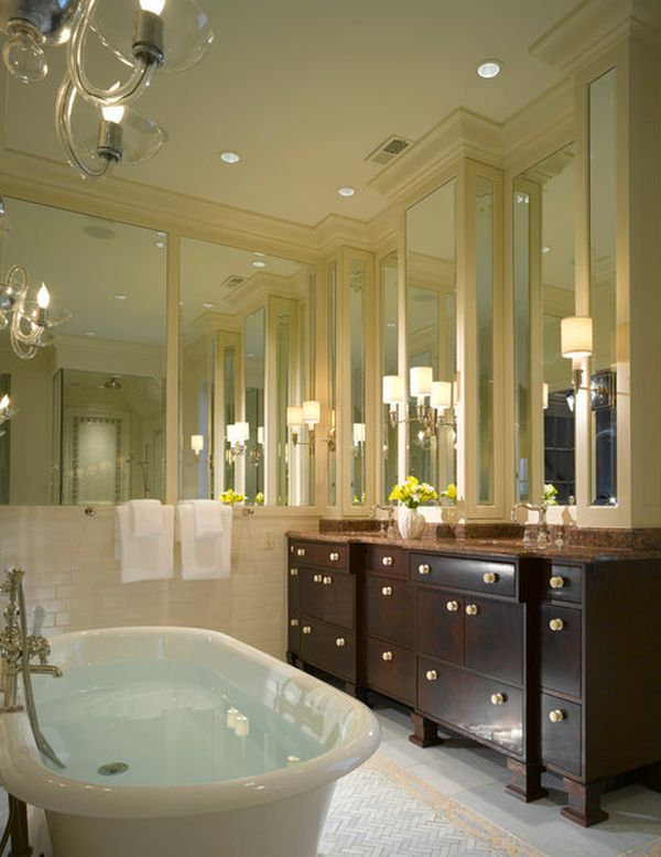 Add style and depth to your home with mirrored walls : classic bathroom from www.homedit.com size 600 x 778 jpeg 57kB