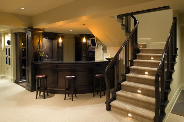 Lighting Basement Washroom Stairs: 10 Stairway Lighting Ideas For Modern And Contemporary