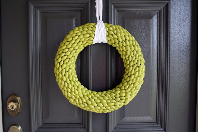 colorful acorn wreath