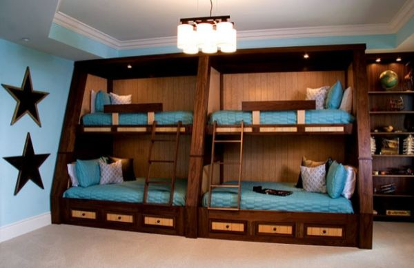 View In Gallery Classical Bunk Beds With Wall Mounted Lamps And Soft Lighting