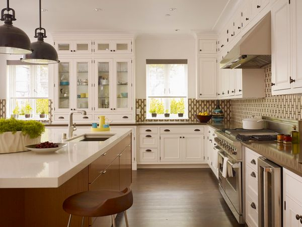 l shaped kitchen designs. View In Gallery Contemporary Kitchen With Patterned  20 L Shaped Design Ideas To Inspire You