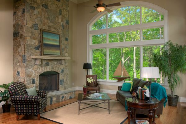 How to decorate a living room with large windows for How to decorate room