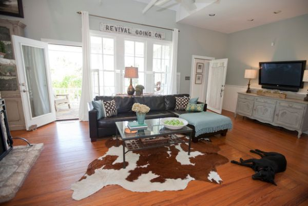 Cowhide rugs and a few ways of using them in your interior dcor
