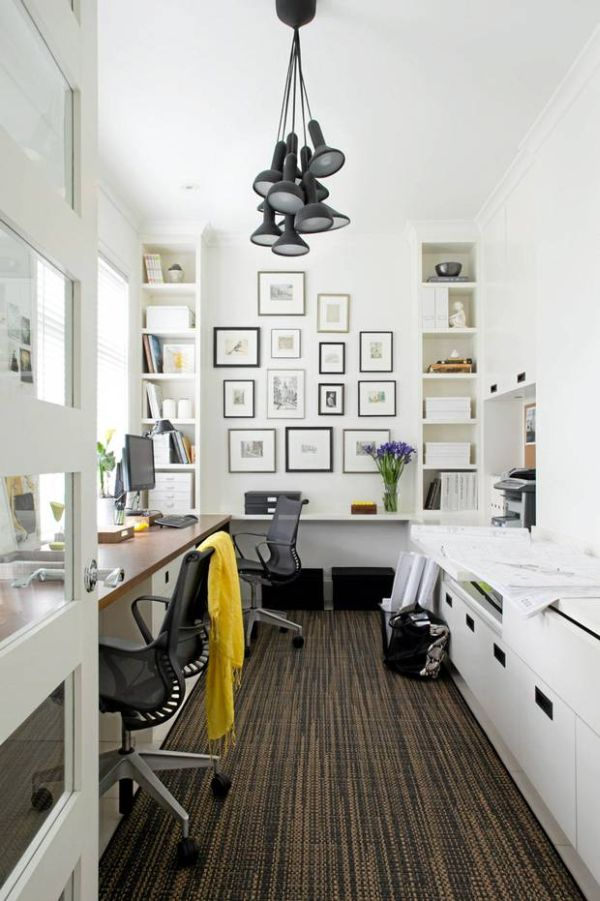Black And White Decorating decorating a black & white office: ideas & inspiration