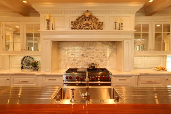 Awesome View In Gallery Elegant Kitchen With An Imposing Hood ... Home Design Ideas