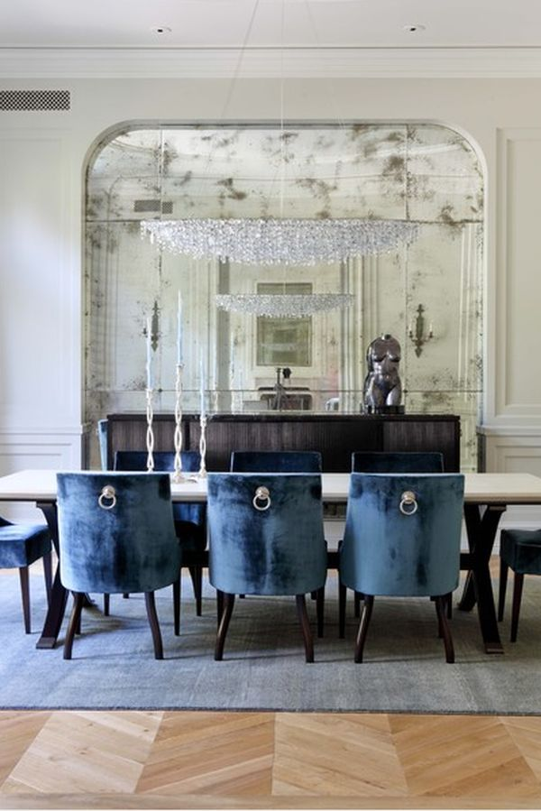 wall for functional use View in gallery Traditional dining. Add style and depth to your home with mirrored walls