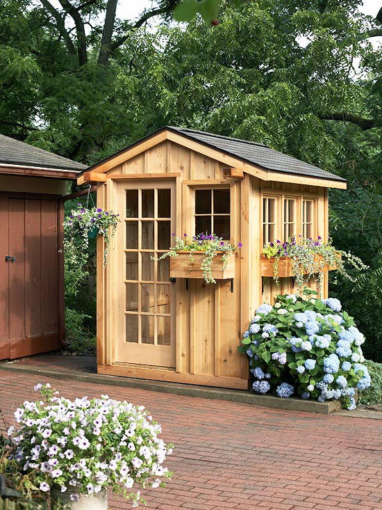 16 garden shed design ideas for you to choose from for Garden building ideas