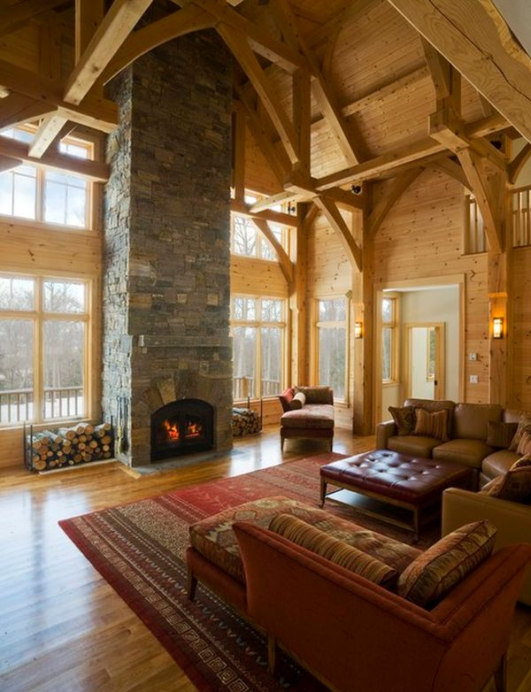 Stunning Log Cabin Living Room