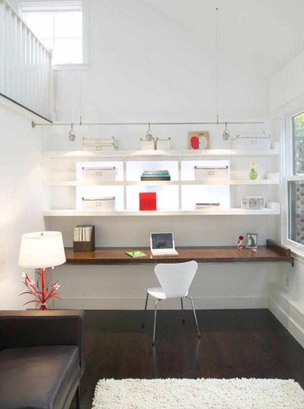10 sleek stylish and space saving floating desks - Sleek sofas small spaces decor ...