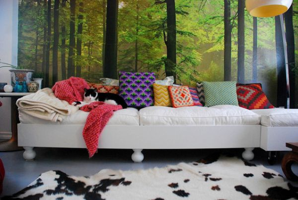 the beauty of wall murals and their ability to change or. Black Bedroom Furniture Sets. Home Design Ideas