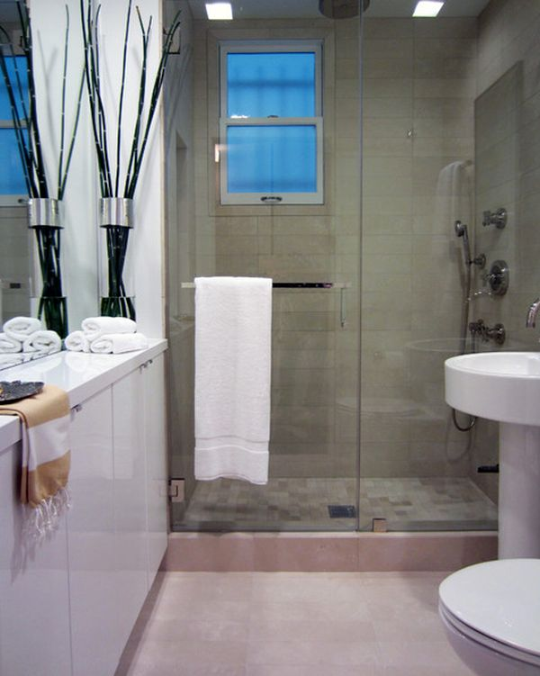 Awesome View In Gallery Sleek Towel Bar Integrated Into The Shower Unitu0027s Design Photo Gallery