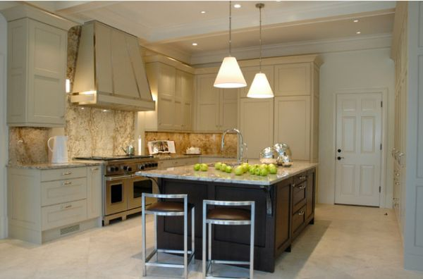 View In Gallery Elegant Kitchen With An Imposing Hood Featuring A Mantel  View ... Photo Gallery