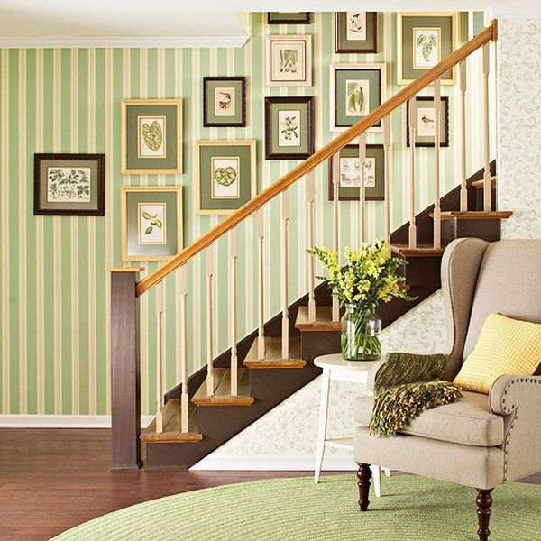 Interior Home Decoration Indoor Stairs Design Pictures: How To Maximize A Staircase Wall
