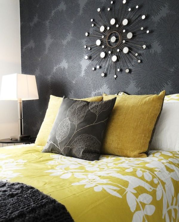 View In Gallery Contemporary Guest Bedroom With A Beautifully Balanced Yellow  And Grey ...