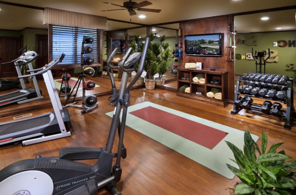 Decorating a home gym in contemporary style