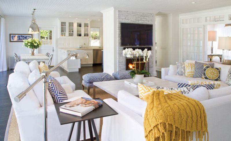 A redesigned historic house in East Hampton with a modern and ...