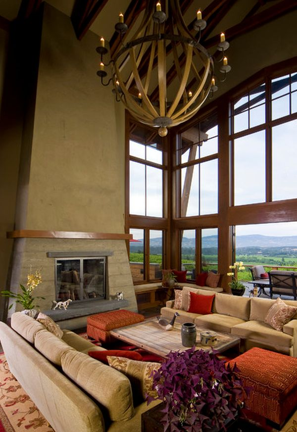 10 high ceiling living room design ideas - Various Interior Design Styles