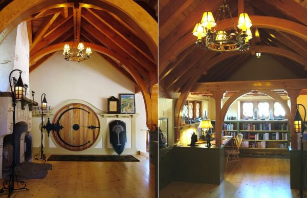 a hobbit house in pennsylvania filled with collection. Black Bedroom Furniture Sets. Home Design Ideas