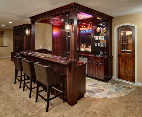 Home Bars Design Ideas: How To Set Out A Funky Home Bar