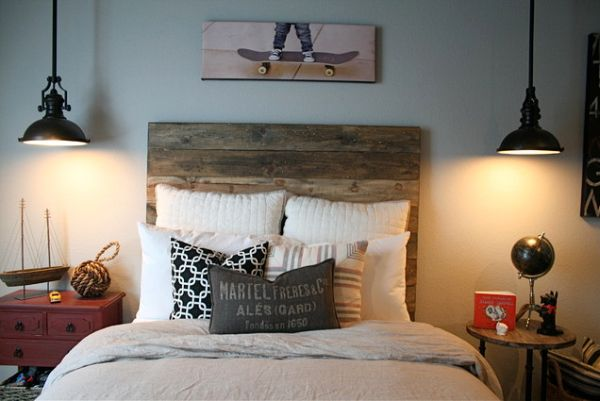 10 beautiful wooden headboards for a warm and inviting bedroom d cor - Lamparas dormitorio juvenil ...