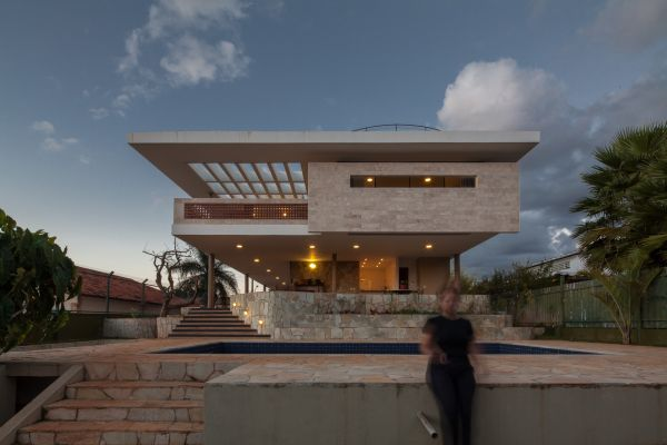 Imposing Residence In Brazil Elevated On Piers And