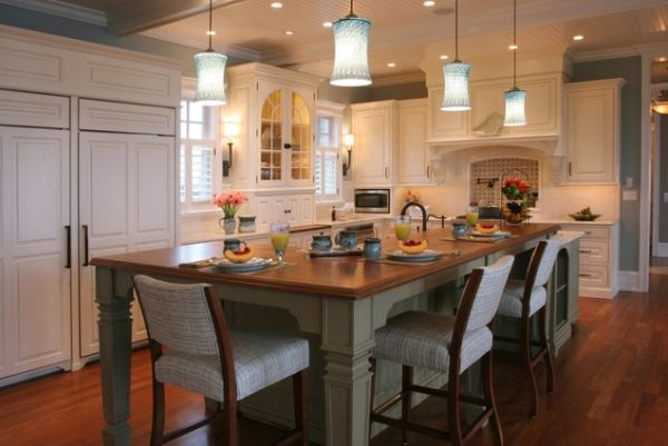 Kitchen Island And Dining Table Combination