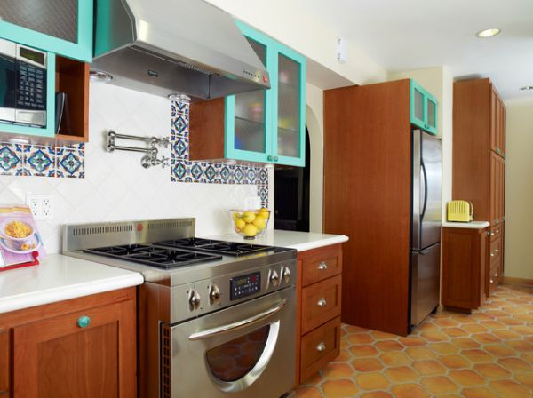 how to make over your kitchen in a hot mexican style rh homedit com  mexican style kitchen design ideas