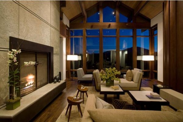 How to decorate a living room with large windows - Decorating a large living room ...