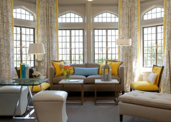 Yellow Accents View In Gallery Bright And Sunny Living Room