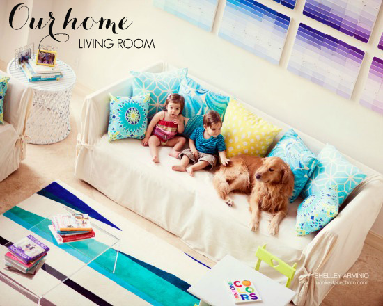 A Colorful And Cheerful Living Room Designed For A Family With Kids