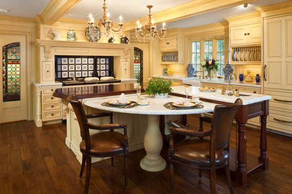 30 Kitchen islands with tables, a simple but very clever combo on galley kitchen with center island, white kitchen with center island, u shaped breakfast nook, kitchen cabinet design with center island, u shaped family room, small kitchen with center island, kitchen layouts with center island,