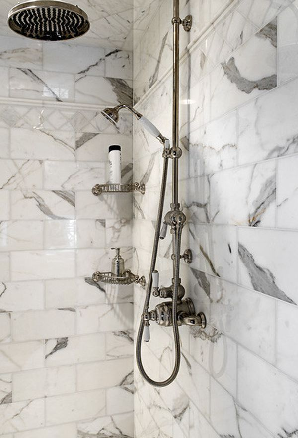 View In Gallery. A Corner Shower Caddy ...