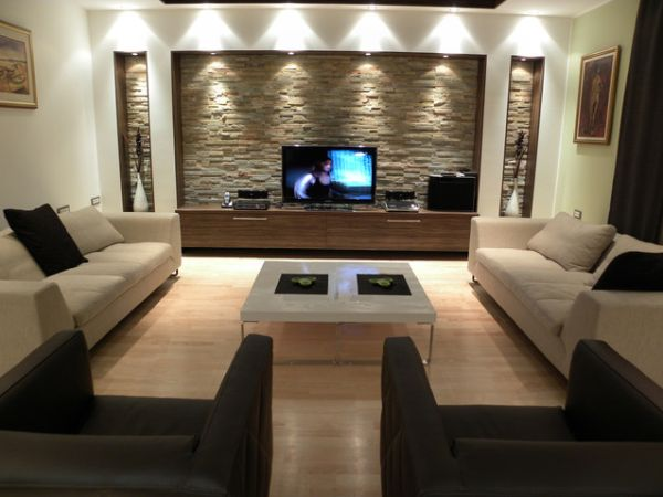 Modern Ideas To Decorate Living Room Walls Model