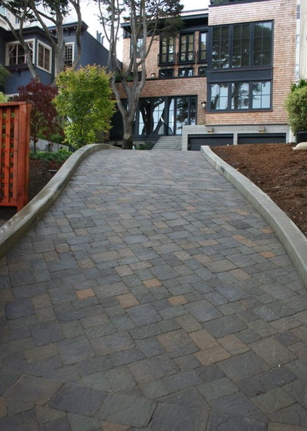 How to improve the look of a driveway for Sloped driveway options