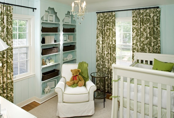neutral green nursery