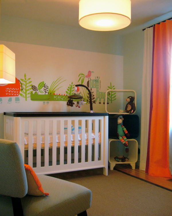 ... View In Gallery Brightly Colored Nursery With Bold Accent Details And A  Simple Décor Pictures