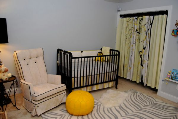 The Nursery With A Zebra Print Rug.