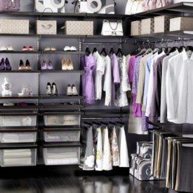 organized closet color coordinated