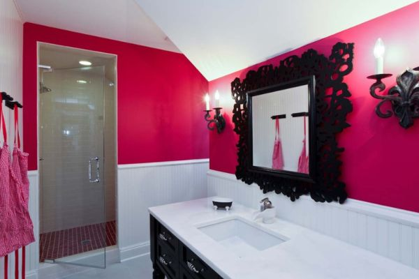 Pink And Black Bathroom Decor Best Home Ideas