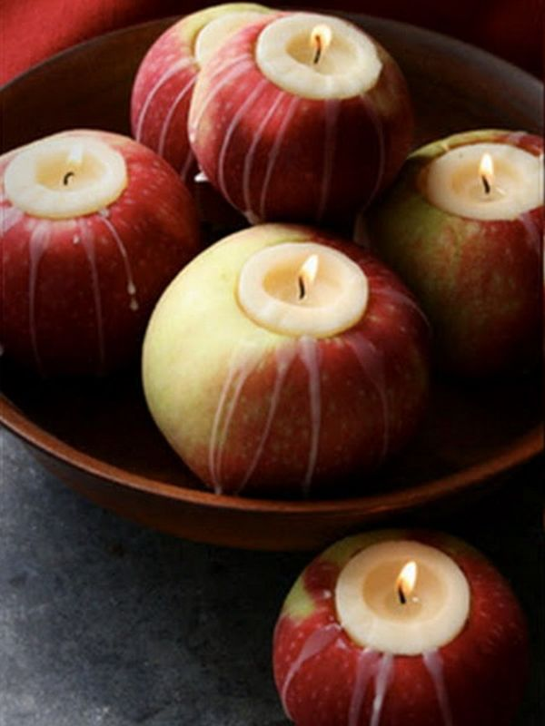 Apple decoration ideas for this fall apple candles junglespirit Image collections