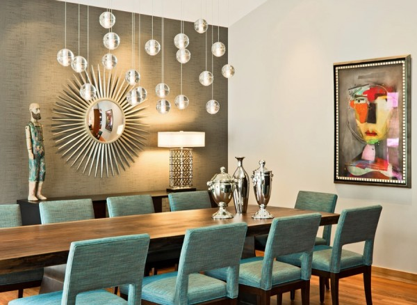 Lovely Retro Dining Room Lighting Glamour Awesome Design
