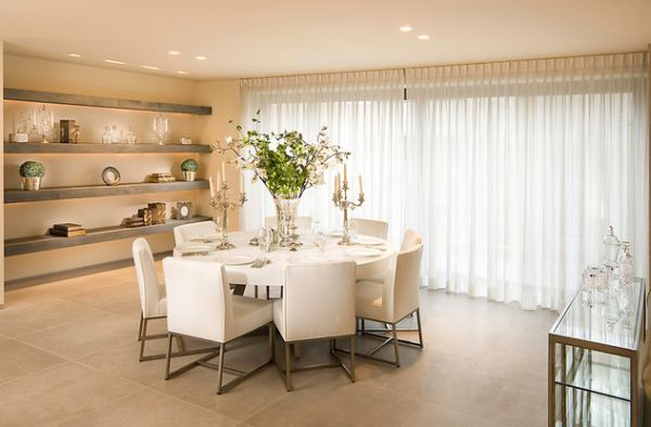 Attractive ... Chic Dining Room With A Bright White Décor Complemented By Soft Pastels  View ...