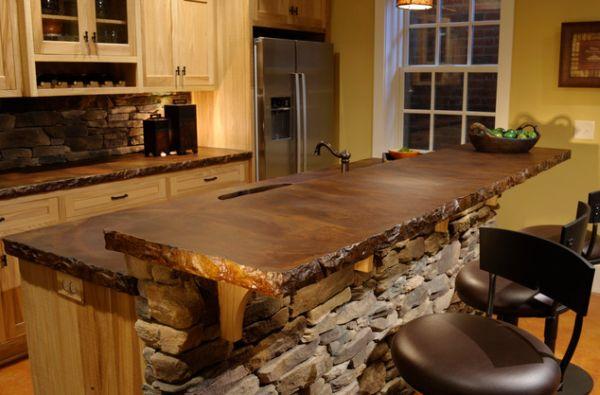 Rustic Tile Kitchen Countertops A Case For Concrete Counters